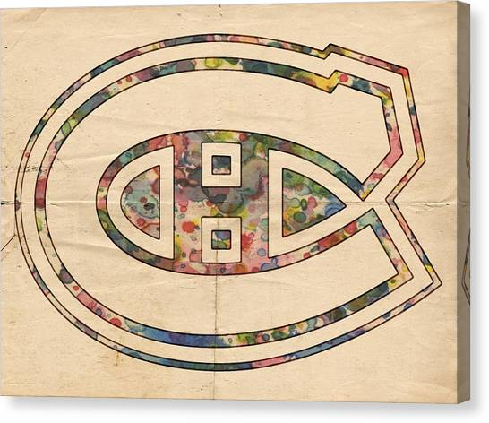 Montreal Canadiens Canvas Print - Montreal Canadiens Hockey Poster by Florian Rodarte