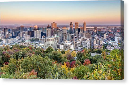 Montreal City In Autumn Canvas Print