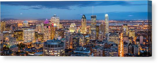 Montreal Panorama Canvas Print