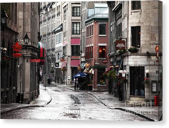 Montreal Street Scene Canvas Print