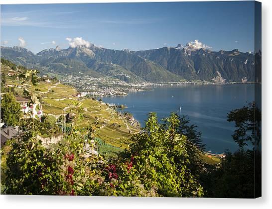 Montreux On Lake Geneva Canvas Print