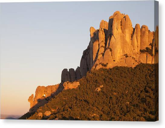 Montserrat At Sunset Canvas Print by Javier Fores