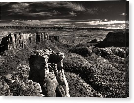 Monument Canyon Monolith Canvas Print