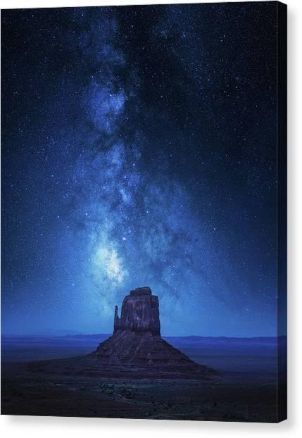 Monument Milkyway Canvas Print by Juan Pablo De