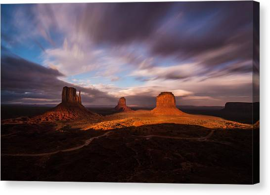 Monument Skys Canvas Print