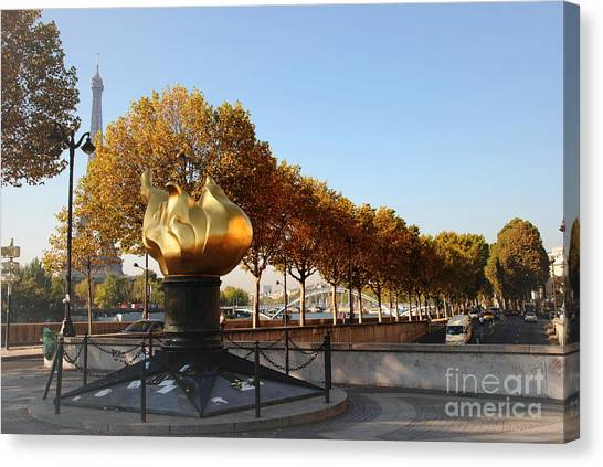 Monument To Diana Canvas Print by Jacqueline M Lewis