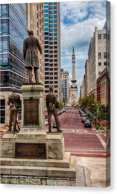 Monument To Monument Indianapolis Canvas Print