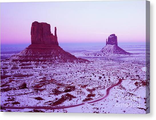 Monument Valley At New Year's Day Canvas Print