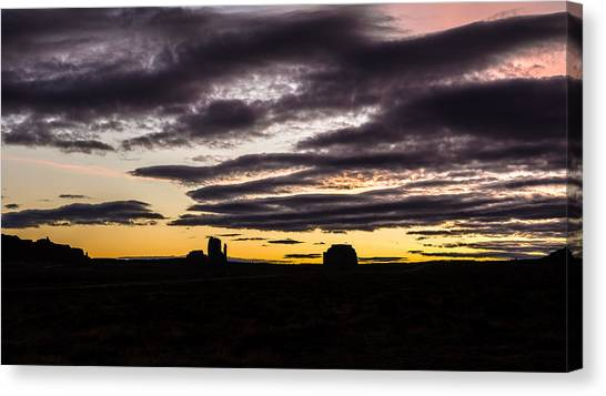 Canvas Print featuring the photograph Monument Valley First Light by Todd Aaron
