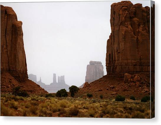 Monument Valley Mist Canvas Print
