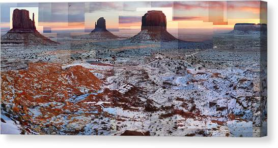 Monument Valley Mittens Canvas Print