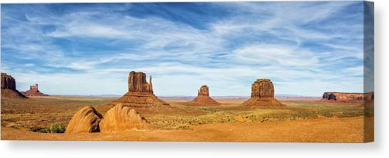 Monument Valley Panorama - Arizona Canvas Print