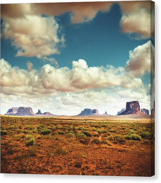 Monument Valley Panoramic View Canvas Print by Franckreporter