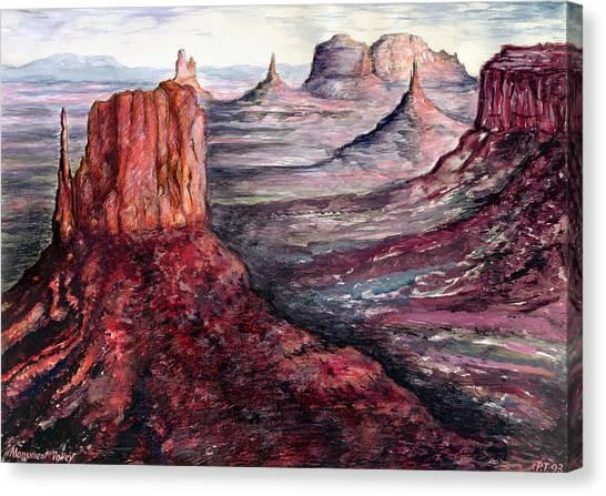 Monument Valley Arizona - Landscape Art Painting Canvas Print