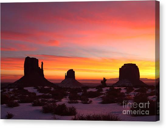 Monumental Sunrise Canvas Print