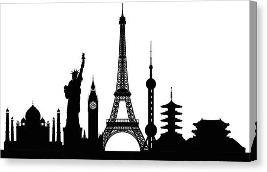 Monuments Buildings Are Complete And Canvas Print by Leontura