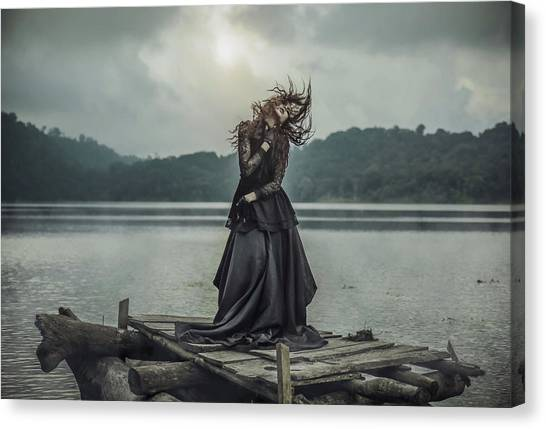 Witches Canvas Print - Mood For Dance by Felix Rusli