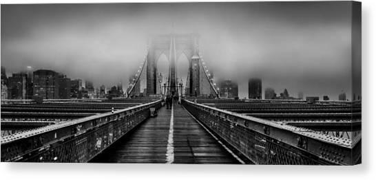 Brooklyn Bridge Canvas Print - November Rain by Az Jackson