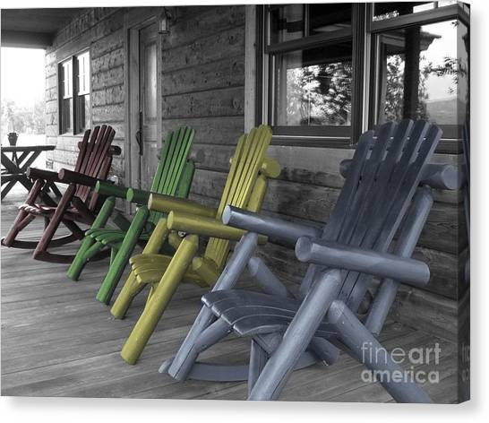 Mood Seating Canvas Print
