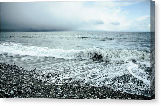Moody Shoreline French Beach Canvas Print