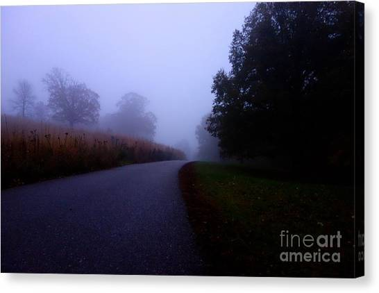 Moody Autumn Pathway Canvas Print