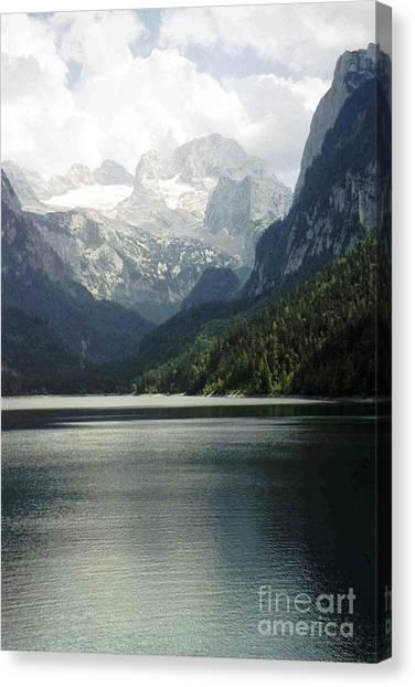 Moody Dachstein Canvas Print