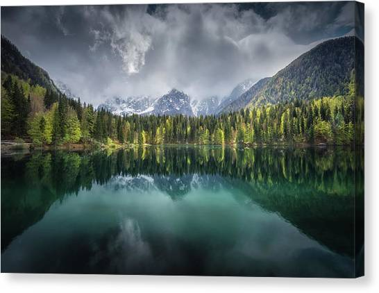 Dolomites Canvas Print - Moody Day by Clara Gamito