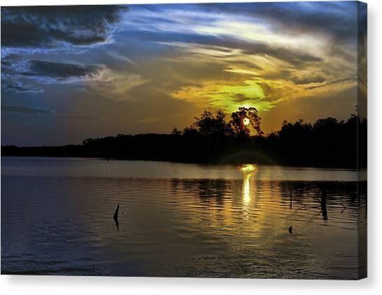 Moody Sunrise Canvas Print by Gene Zonis