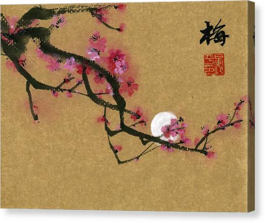 Moon And Plum Canvas Print