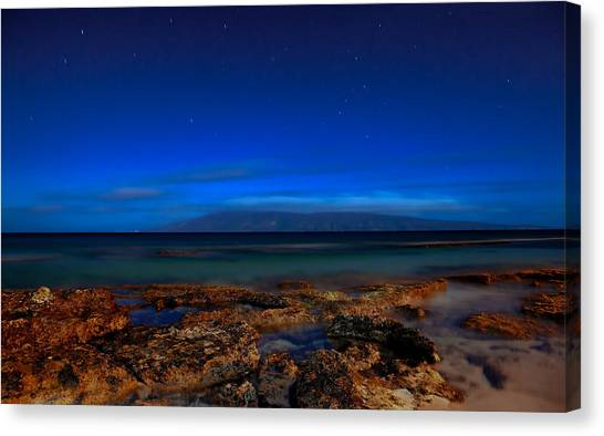 Moon And Star Light Canvas Print