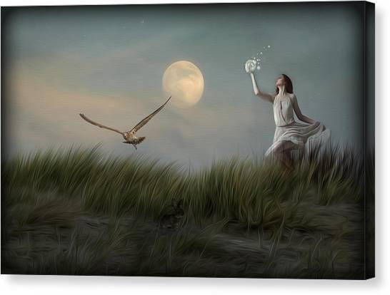 Moon Child Canvas Print by Hazel Billingsley