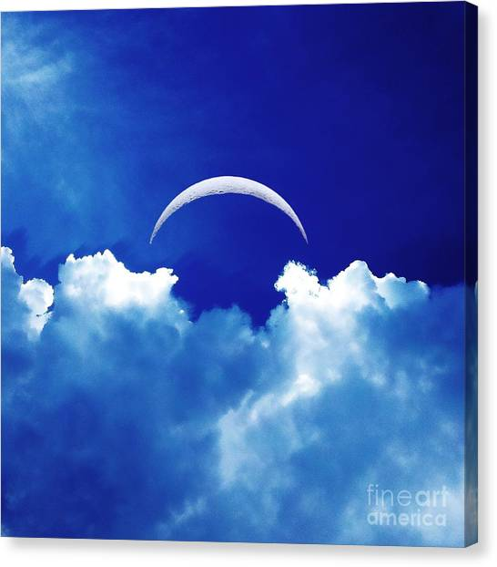 Moon Cloud Canvas Print