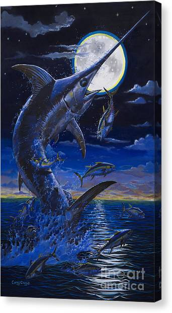 Swordfish Canvas Print - Moon Doggie Off00124 by Carey Chen