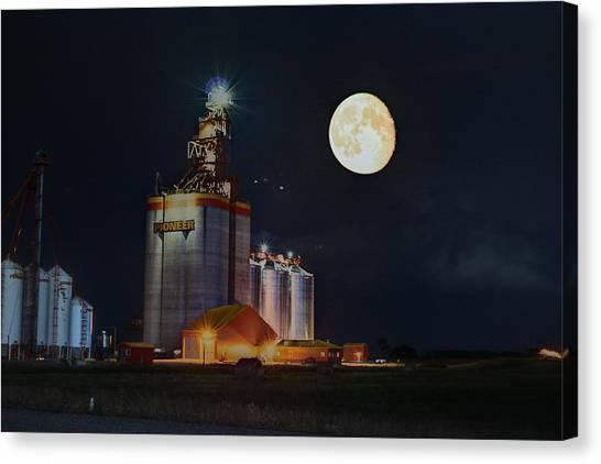 Moon Glow Over Elevator Canvas Print