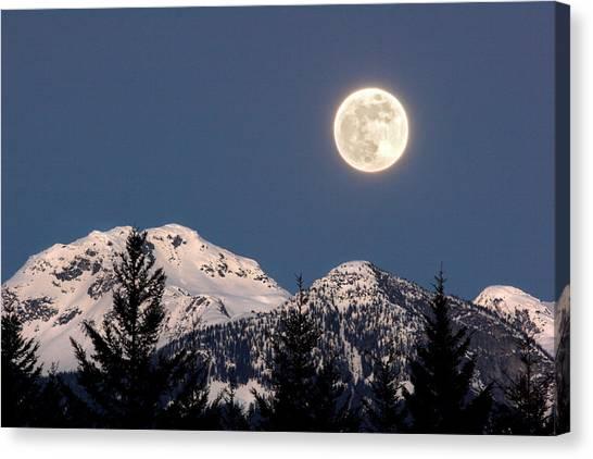 Moon Glow Whistler Canada Canvas Print