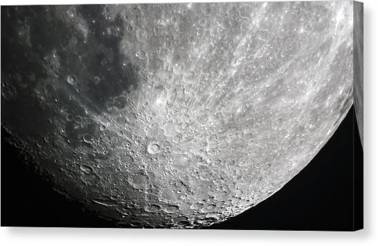 Moon Hi Contrast Canvas Print
