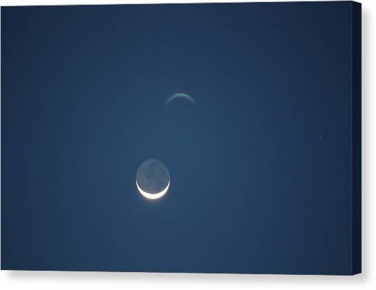 Moon Canvas Print - Moon In Blue by Jason Huffman