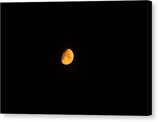 Moon Canvas Print - Moon In Orange  by Jason Huffman