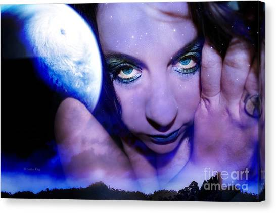 Moon Intoxication Canvas Print by Heather King