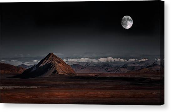 Moon Night Canvas Print by Selinos