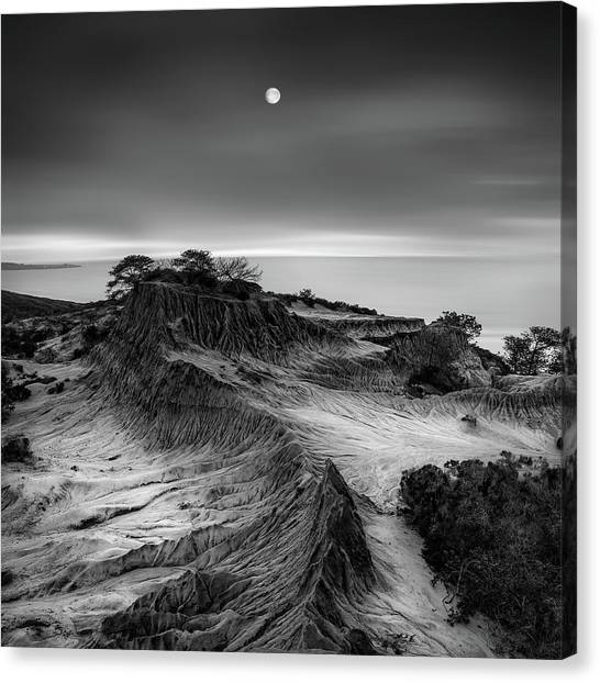 Formations Canvas Print - Moon Over Broken Hill by Yi Fan