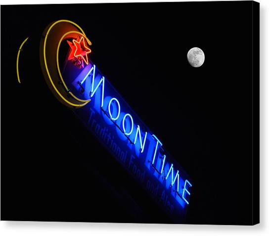 Moon Over Moon Time Canvas Print