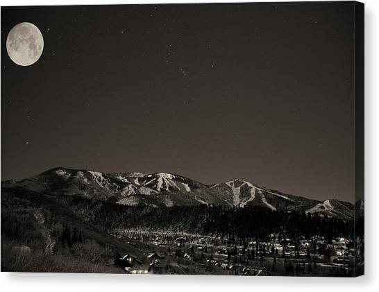 Moon Over Mt. Werner Canvas Print