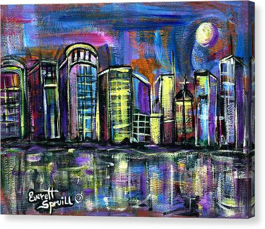 Moon Over Orlando Canvas Print
