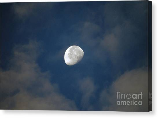 Moon Over Philadelphia Canvas Print