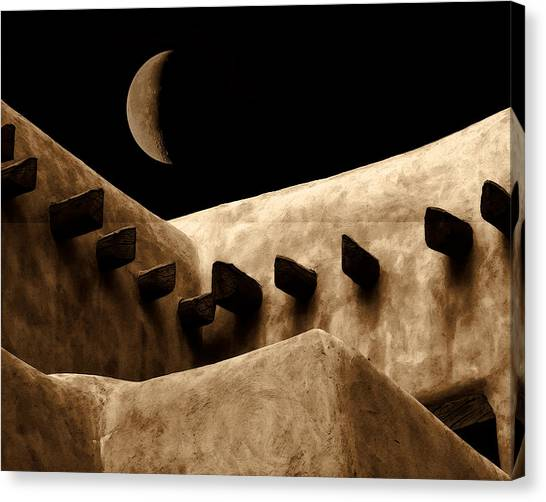 Moon Over Santa Fe Canvas Print