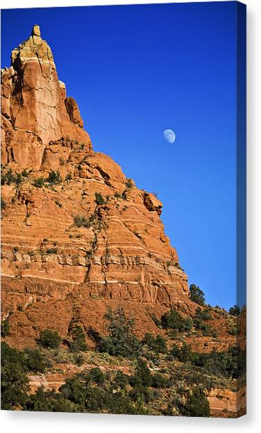 Moon Over Sedona Canvas Print