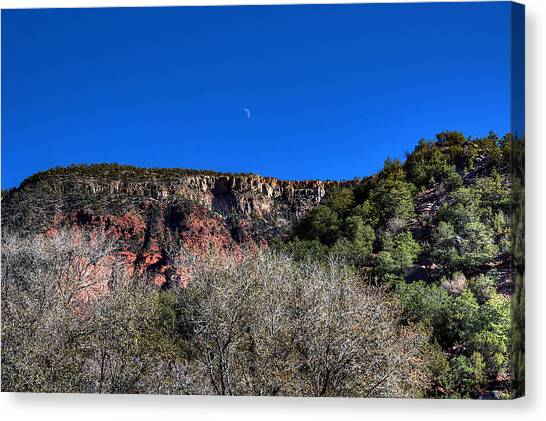 Moon Over The Mesa Canvas Print