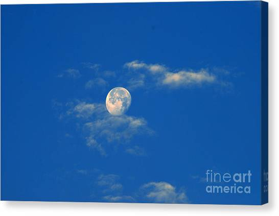 Moon Over Washington Dc Canvas Print