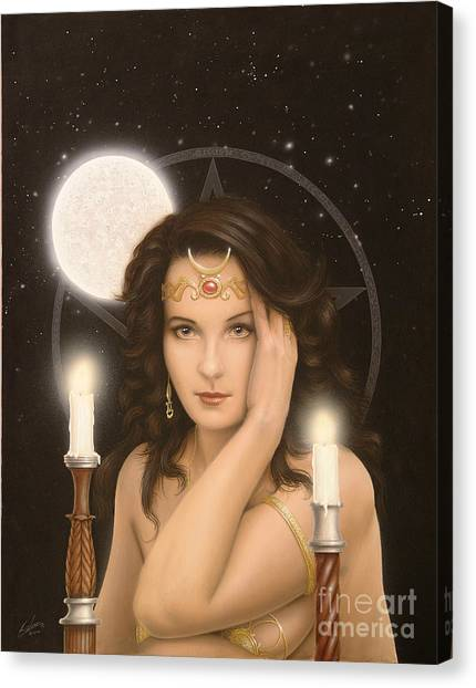 Moon Priestess Canvas Print
